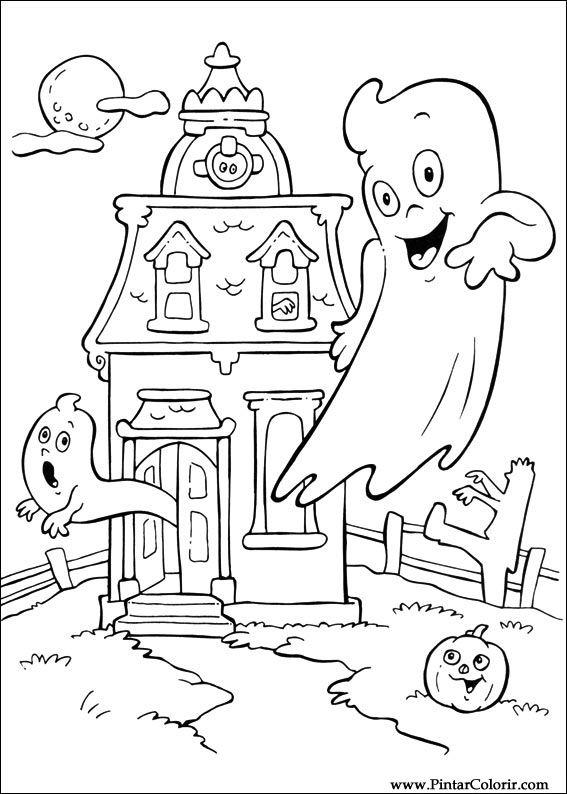 Desene Pentru Paint și Culoare Halloween Print Design 083