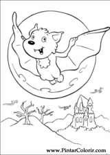 Pintar e Colorir Dia Das Bruxas - Desenho 067