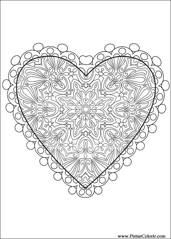 Dibujos para pintar y Color Día de San Valentín - Diseño de ...