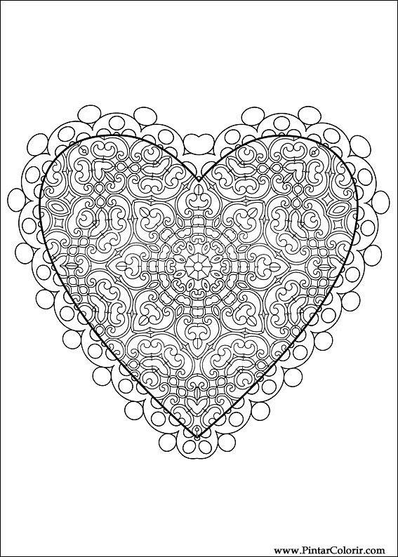 Desenhos Para Pintar E Colorir Dia Dos Namorados Imprimir