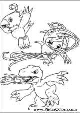 Pintar e Colorir Digimon - Desenho 003