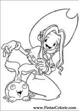 Pintar e Colorir Digimon - Desenho 006