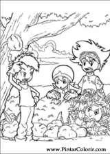 Pintar e Colorir Digimon - Desenho 009