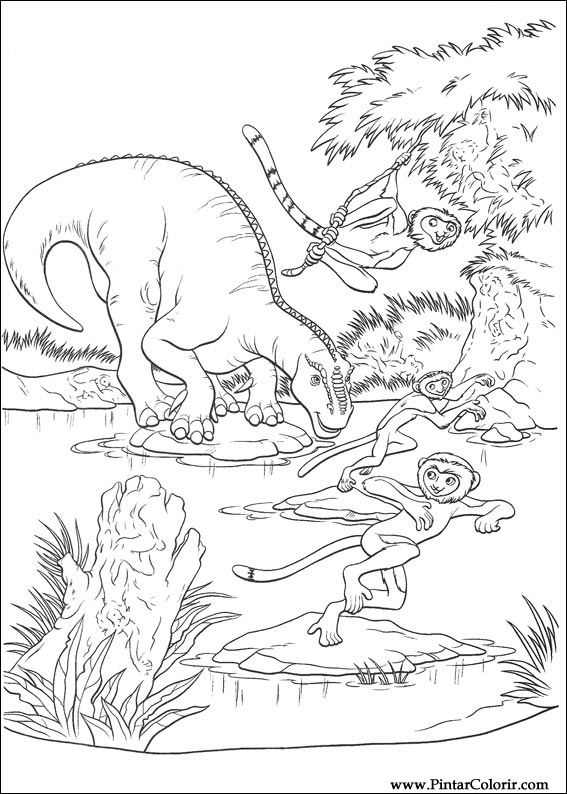 Desenhos Para Pintar E Colorir Dinossauro Imprimir Desenho 005