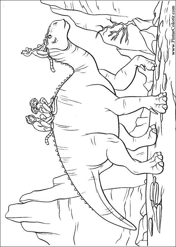 Desenhos Para Pintar E Colorir Dinossauro Imprimir Desenho 007