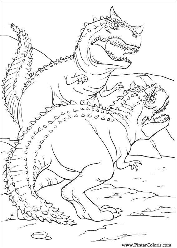 çizimler Boya Ve Renk Dinozor Için Baskı Tasarım 011
