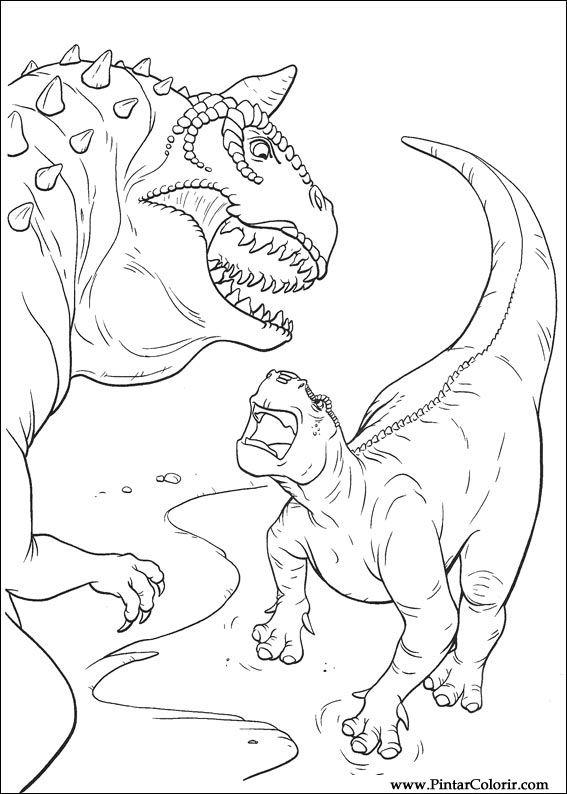 Desenhos Para Pintar E Colorir Dinossauro Imprimir Desenho 023