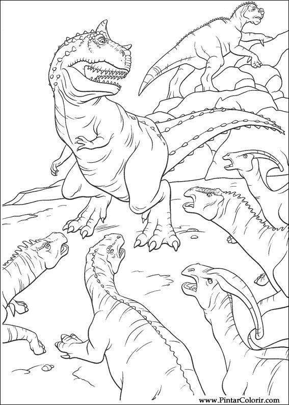 恐竜をペイント&カラー , 024