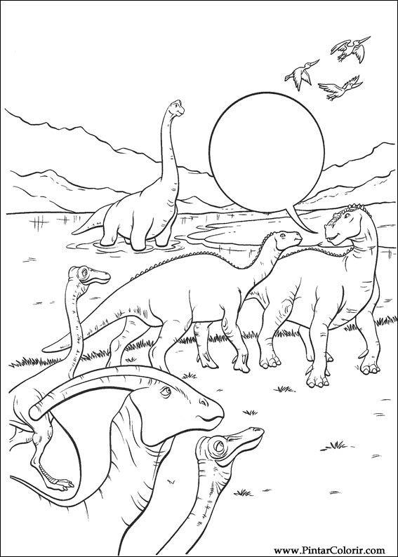 çizimler Boya Ve Renk Dinozor Için Baskı Tasarım 028