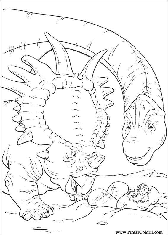 çizimler Boya Ve Renk Dinozor Için Baskı Tasarım 030