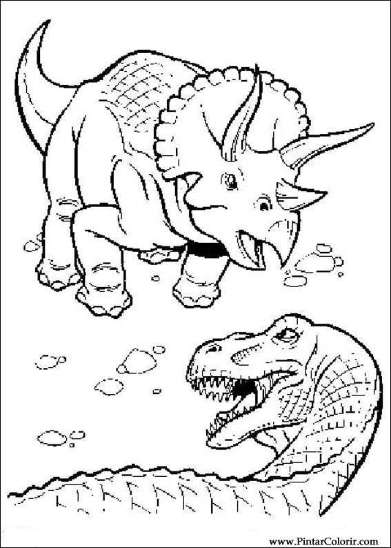desenhos para pintar e colorir dinossauro imprimir desenho 042