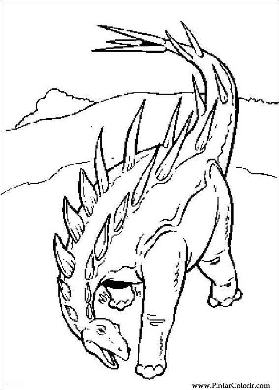 desenhos para pintar e colorir dinossauro imprimir desenho 052