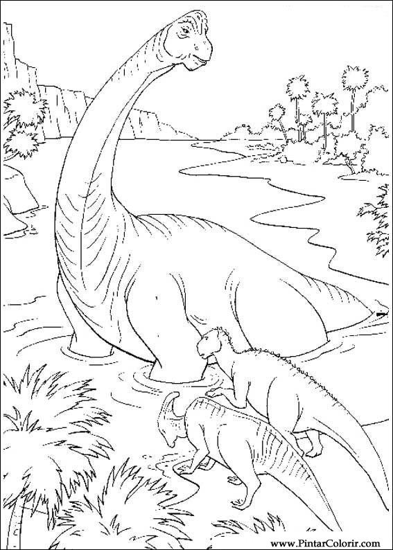desenhos para pintar e colorir dinossauro imprimir desenho 057
