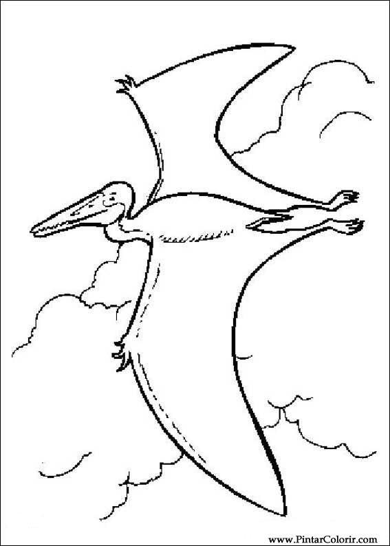 çizimler Boya Ve Renk Dinozor Için Baskı Tasarım 061