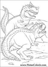 Pintar e Colorir Dinossauro - Desenho 011