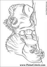 Pintar e Colorir Dinossauro - Desenho 017