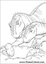Pintar e Colorir Dinossauro - Desenho 029