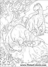 Pintar e Colorir Dinossauro - Desenho 039