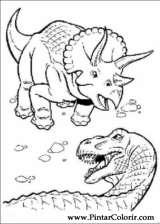 Pintar e Colorir Dinossauro - Desenho 042
