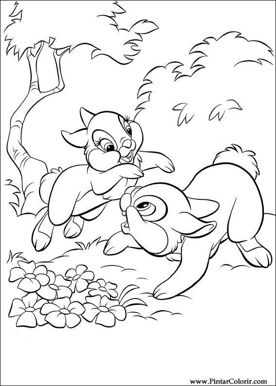 Pintar e Colorir Disney Bunnies - Desenho 013