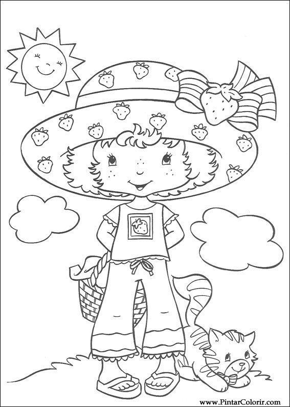 çizimler Boya Ve Renk çilek Sevgiliye Için Baskı Tasarım 009