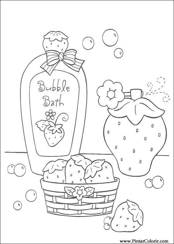 çizimler Boya Ve Renk çilek Sevgiliye Için Baskı Tasarım 013