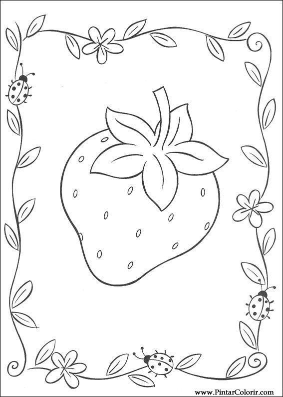 Desenhos Para Pintar E Colorir Docinho De Morango Imprimir