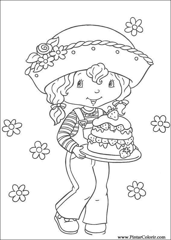 çizimler Boya Ve Renk çilek Sevgiliye Için Baskı Tasarım 040