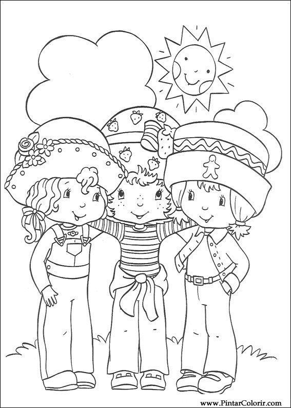 çizimler Boya Ve Renk çilek Sevgiliye Için Baskı Tasarım 056