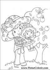 Pintar e Colorir Docinho De Morango - Desenho 010