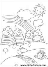 Pintar e Colorir Docinho De Morango - Desenho 019