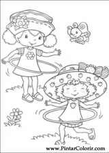 Pintar e Colorir Docinho De Morango - Desenho 028