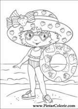 Pintar e Colorir Docinho De Morango - Desenho 030