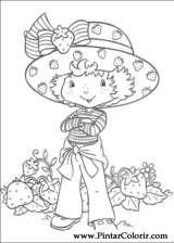 Pintar e Colorir Docinho De Morango - Desenho 034