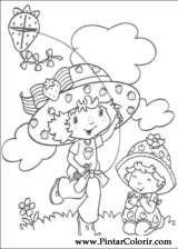 Pintar e Colorir Docinho De Morango - Desenho 036
