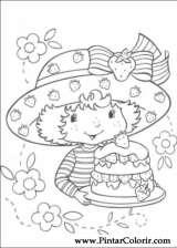 Pintar e Colorir Docinho De Morango - Desenho 057