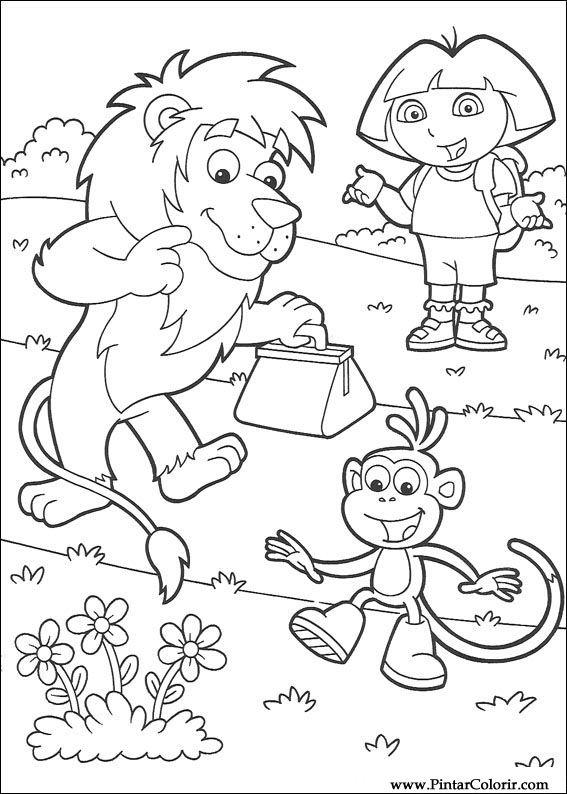Desenhos Para Pintar E Colorir Dora A Aventureira Imprimir