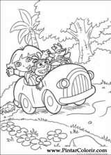Pintar e Colorir Dora A Aventureira - Desenho 004