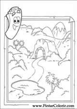 Pintar e Colorir Dora A Aventureira - Desenho 009