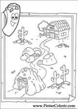 Pintar e Colorir Dora A Aventureira - Desenho 010