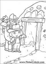 Pintar e Colorir Dora A Aventureira - Desenho 012