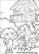 Pintar e Colorir Dora A Aventureira - Desenho 013