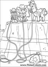 Pintar e Colorir Dora A Aventureira - Desenho 016