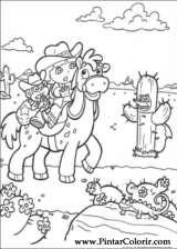 Pintar e Colorir Dora A Aventureira - Desenho 018