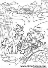 Pintar e Colorir Dora A Aventureira - Desenho 021