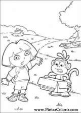 Pintar e Colorir Dora A Aventureira - Desenho 022
