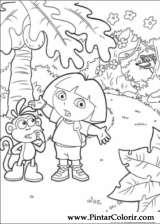 Pintar e Colorir Dora A Aventureira - Desenho 025