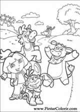 Pintar e Colorir Dora A Aventureira - Desenho 027