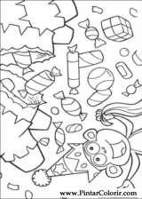Pintar e Colorir Dora A Aventureira - Desenho 055