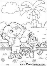 Pintar e Colorir Dora A Aventureira - Desenho 062